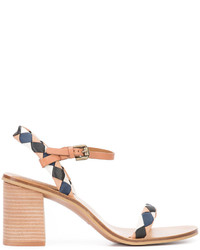 See by Chloe See By Chlo Diamond Patch Heeled Sandals