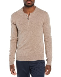Tan Henley Sweater