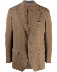Polo Ralph Lauren Herringbone Pattern Single Breasted Blazer