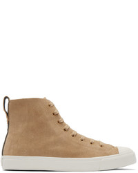 Tan high top sneakers original 536724