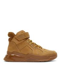 Balmain Brown B Ball Sneakers