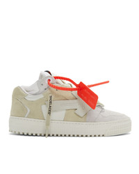 Off-White Grey And Beige 30 Low Top Sneakers