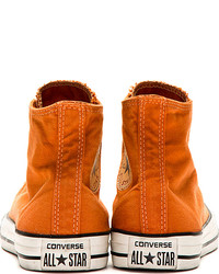 ... Converse Premium Chuck Taylor Orange Well Worn Chuck Taylor High Top  Sneakers ... 8f76d26b3