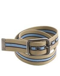 American Beltway Striped Web Belt Khaki