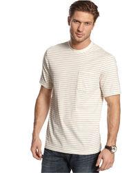 Club Room Short Sleeve Striped Pocket T Shirt