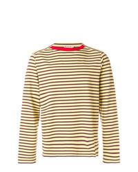 Tan Horizontal Striped Long Sleeve T-Shirt