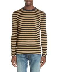 Saint Laurent Stripe Long Sleeve T Shirt
