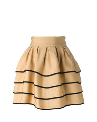 Fausto Puglisi Striped Short Full Skirt