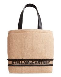 Stella McCartney Monogram Woven Raffia Tote