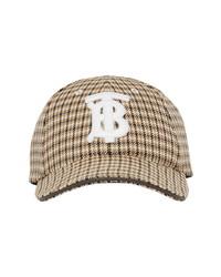 Burberry New Era Monogram Houndstooth Wool Baseball Cap