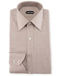 Tom Ford Slim Fit Mini Houndstooth Dress Shirt