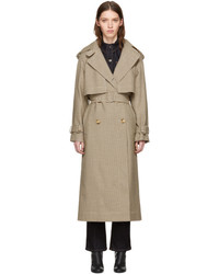 Stella McCartney Tan Houndstooth Trench Coat