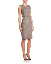 Cesy wool houndstooth sheath dress medium 789851