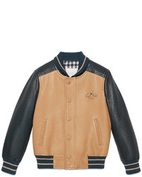 Gucci Childrens Leather Bomber Jacket