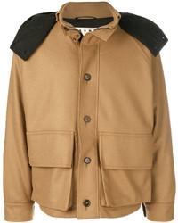 Marni Contrast Hooded Military Jacket