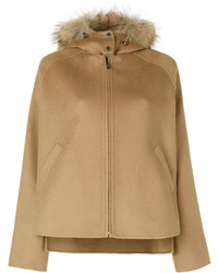 P.A.R.O.S.H. Fur Trim Hooded Jacket