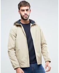 Farah Newbern Hooded Rain Jacket In Beige