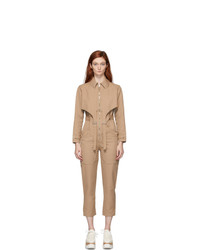 Stella McCartney Beige Tuta Military Jumpsuit