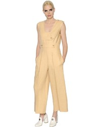 Linen jumpsuit with straps medium 3706149