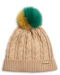 Knitted wool cashmere beanie medium 831678