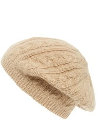 Sole Society Cable Knit Beret Grey