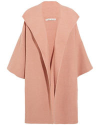Alice + Olivia Alice Olivia Hester Ribbed Knit Cardigan Blush