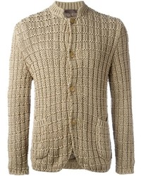 Woven knit buttoned cardigan medium 389924