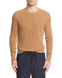 Tan Knit Crew-neck Sweater