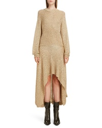 Chloé Metallic Ribbed Highlow Dress