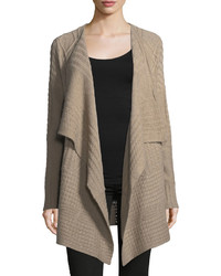 Cashmere cable knit cardigan tan medium 6754937