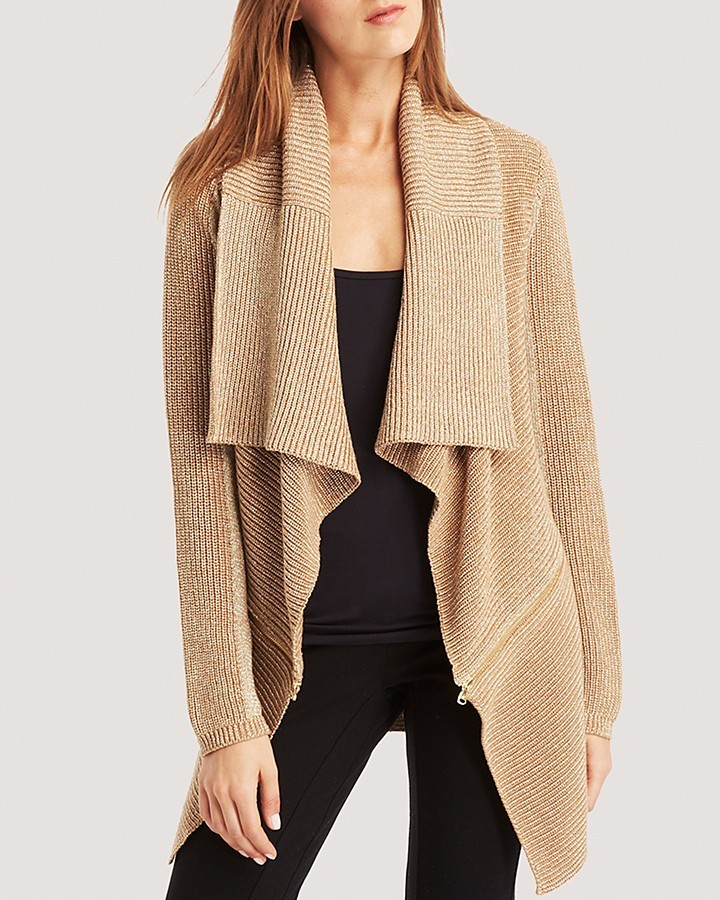 ... Tan Knit Open Cardigans Kenneth Cole New York Sabrina Metallic Knit  Cardigan ... - Kenneth Cole New York Sabrina Metallic Knit Cardigan Where To