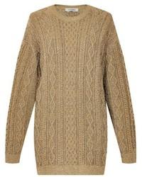 Valentino Oversized Aran Knit Sweater