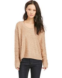 Somedays Lovin Turntable Fluffy Knit Jumper In Tan Xs M
