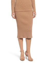 English Factory Ribbed Knit Midi Skirt