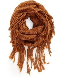 Chunky knit fringe scarf medium 951963