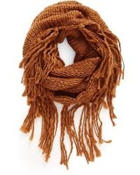 Chunky knit fringe scarf medium 951963
