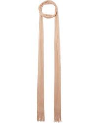 Metallic crochet knit scarf beige medium 5261100