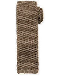 Solid knit silk tie medium 705045