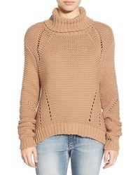 Tan Knit Turtleneck