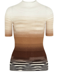Missoni Ombr Cable Knit Wool Top Camel