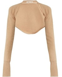 Palmer Harding Palmerharding Open Front Cropped Wool Knit Top