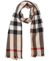 Burberry Check Wool Cashmere Knit Scarf
