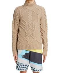 Dries Van Noten Tibeau Cable Knit Wool Sweater