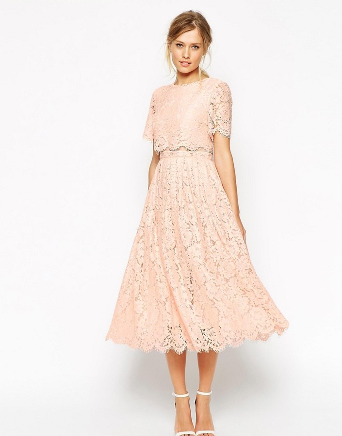 Asos ASOS Lace Crop Top Midi Prom Dress | Where to buy & how to wear