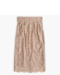 J.Crew Petite Pintucked Pencil Skirt In Lace