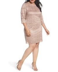 Eliza J Plus Size Lace Shift Dress
