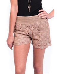 Umgee Usa Lace Floral Shorts