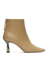 Wandler Beige Lambskin Lina Boots