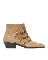 Chloé Beige Susanna Boots