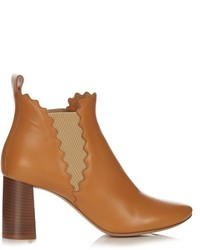 Chloé Chlo Lauren Scallop Edged Leather Ankle Boots